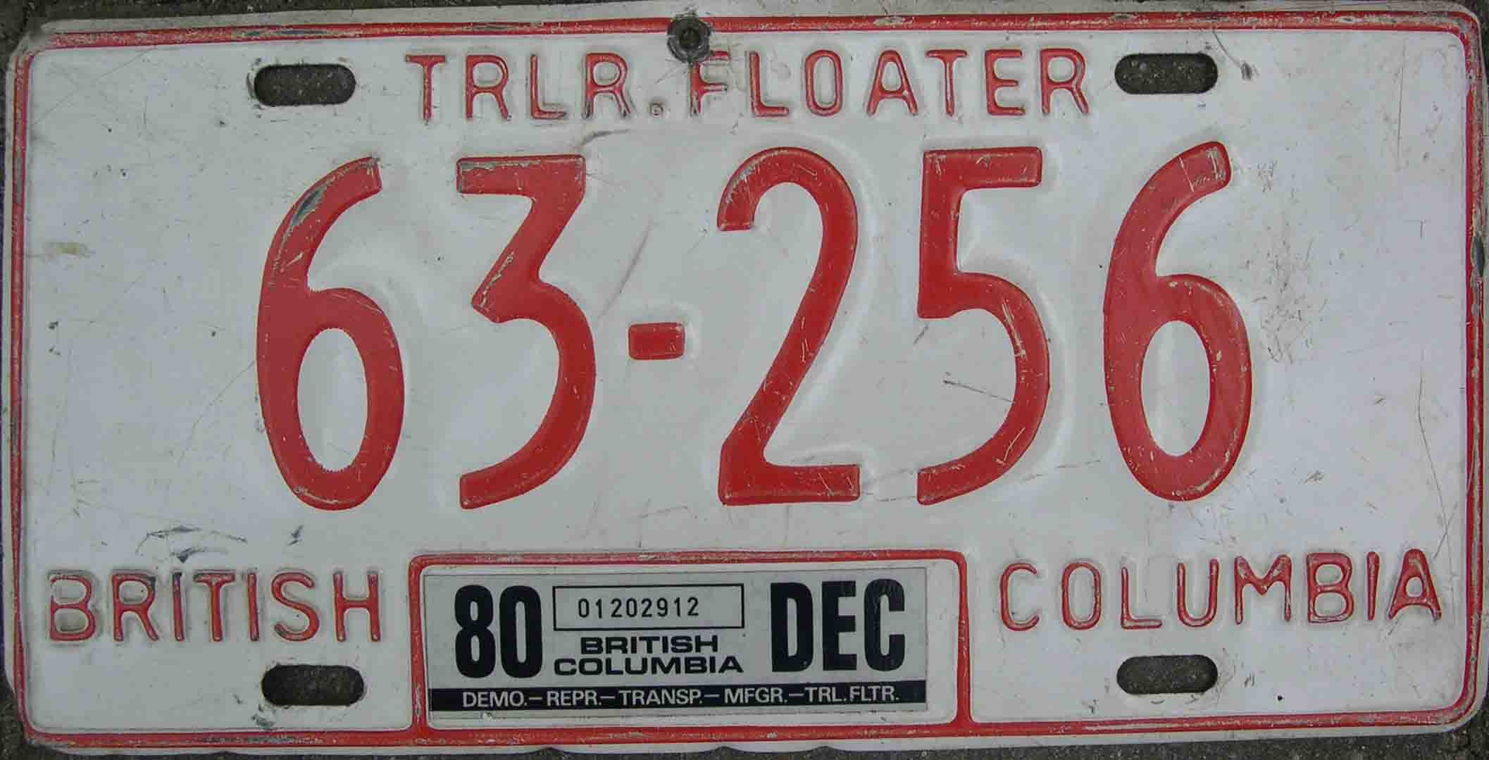 1980 Trailer Floater.63 256